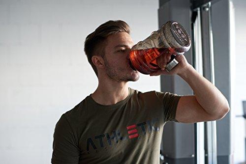 Water Jug - Sport Trinkflasche - Waterjug - Wasserflasche - Gym Bottle - Trainingsflasche - Water Bottle - Fitness Bottle - Wasser Kanister 2.2 Liter - Trinkflasche - ATHLETIC AESTHETICS - Schwarz - 3