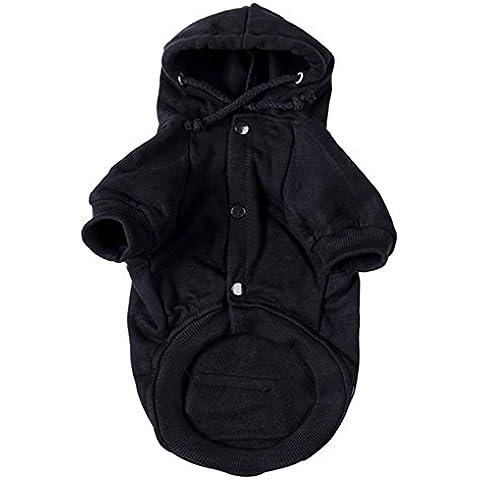 Mascota Capucha Ropa sudaderas para Perros 4 tamaños 3 Colores (Negro, L)