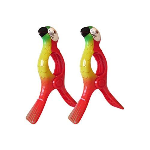 FunMove Papageien-Handtuchclips groß Neuheit Sonnenbett Strand Wäscheklammern Sonnenliege für...