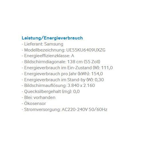 Samsung UE55KU6409 138 cm (55 Zoll) 4kFernseher - 3