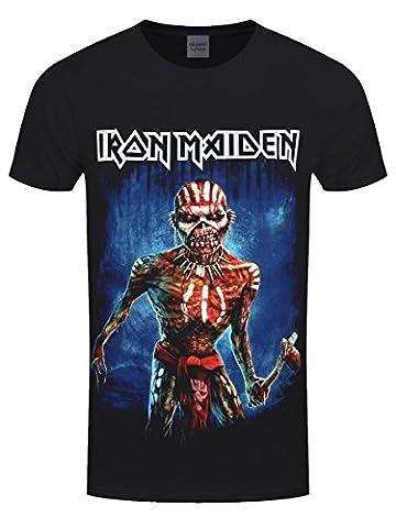 Iron Maiden Axe Eddie Book of Souls Tour Short Sleeve Version 2 Mens T-Shirt Small