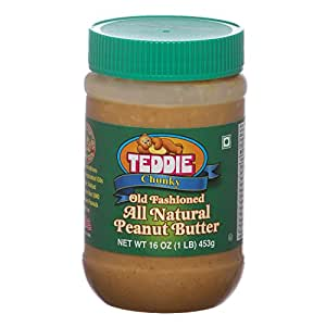 Teddie (MADE IN USA) All Natural Peanut Butter Chunky, 450g