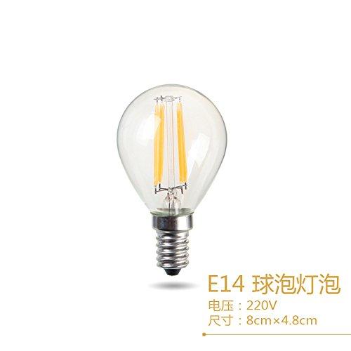 Edison velas led trasera desplegable globo Economizador de energía haciendo retro tungsten E14e27 tornillo candelabros dedicada ,4,LED Bola haciendo E14, amarillo cálido