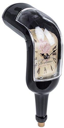 """Kantenuhr im """"Melting Bottle"""" Design - Glas Optik, ca. 28 x 19 x 8 cm - Schmelzende Weinflaschen Uhr Dekoration - Grinscard"""