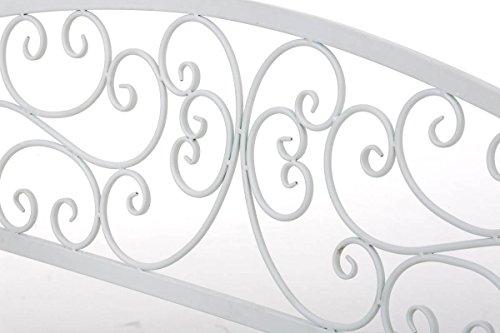 CLP Gartenbank AZAD im Landhausstil, Eisen lackiert, ca 110 x 50 cm Weiß - 6