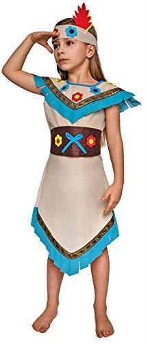 Magicoo Indianer Kostüm Kinder Mädchen mit Blumen - -