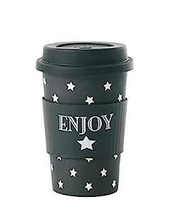 """Miss Etoile travel mug bamboo melamine """"ENJOY"""""""