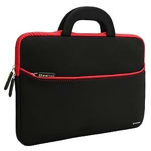 Evecase 13.3-14Pollici Ultraportabile Universale Neoprene Sleeve Custodia per Dispositivi come MacBook Pro, Laptop, Ultrabook – Nero/Rosso