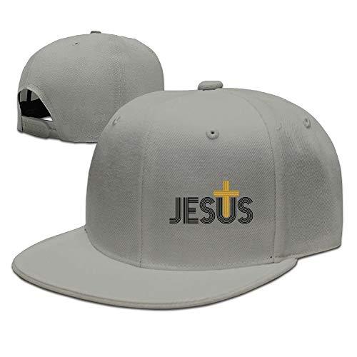 Ygoner Jesus Christian Cross Unisex Snapback Adjustable Flat Bill Baseball Cap -