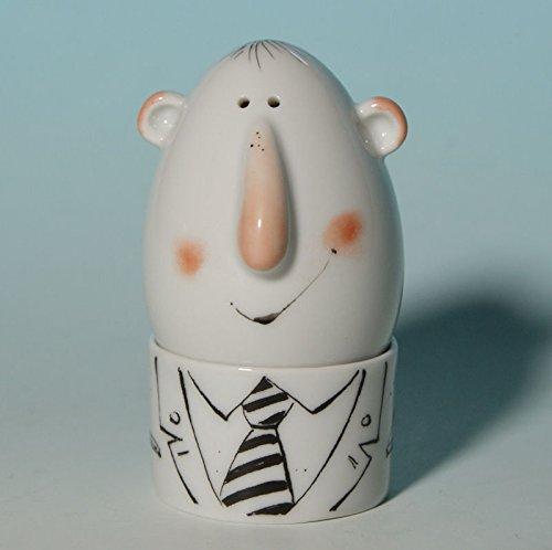 - Streuer - Adam & Ziege - Porzellan (Ziege Hat)