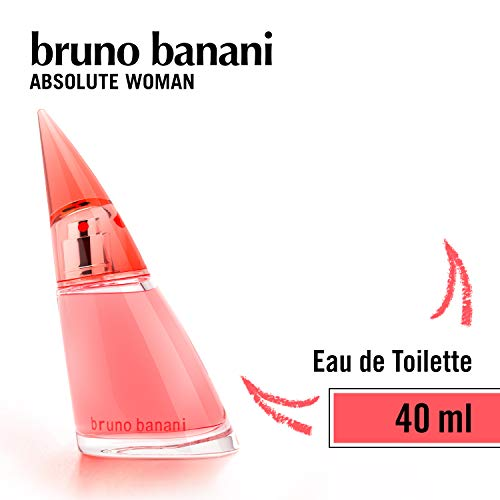 bruno banani Absolute Woman - Eau de Toilette Natural Spray - Fruchtig-blumiges Damen Parfüm - 1er Pack (1 x 40ml)