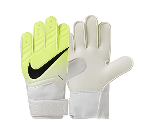 Nike Kinder Match Junior Torwarthandschuhe, weiß (White/Volt/Black), 8