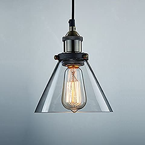 KLSD Ombra Edison vetro industriale Vintage Mini sospensione del cono
