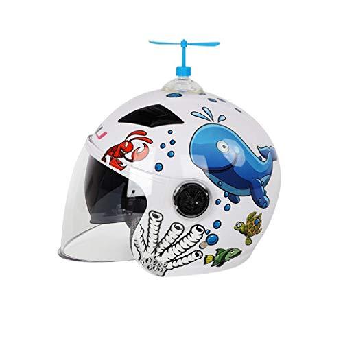 MFKJB EPS Integral geformte schöne Kinderhelme PP + Sicherheit Kopfbedeckung Stoßfest Atmungsaktiv Kinder Fahrradhelm Integral Reithelm Kinder Motorrad Fahrrad (Color : White)