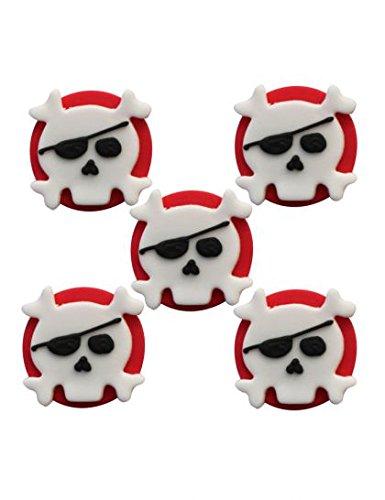 Zuckeraufleger Skull & Crossbones 5 Stk. - Handarbeit