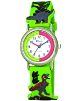 Ravel Cartoon Dinosaur 3D Children's Quartz Watch with White Dial Analogue Display and Multicolour Plastic Strap R1513.59