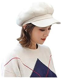 Smnyi Casual Color sólido Hats Invierno Caliente Boina Versión Coreana Dama  Sombrero Elasticidad Mujer Respirable Gorra e99ebffd968