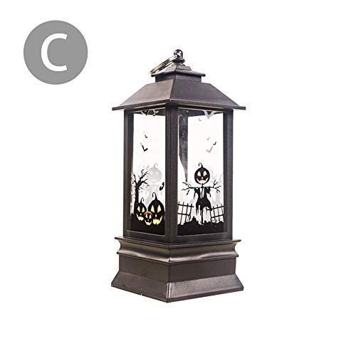 Szseven Licht - Halloween Kerzenlampe Ghost Hand Hexe Kürbis Muster Halloween Element LED Kerze Simulation Flamme Licht Kleines Öl Kerzenlampe Licht Für Halloween Party Dekoration (Für Einzigartige 2019 Halloween-kostüme)