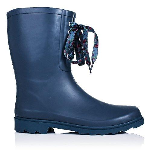 SPYLOVEBUY ANTONIA Gummistiefel Regenstiefel Flach Blau