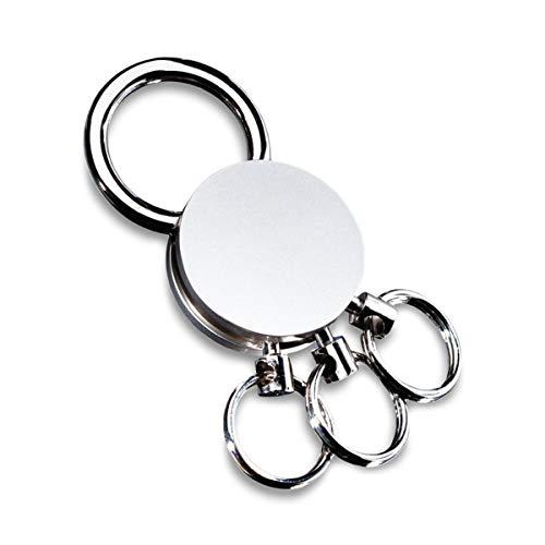 REFLECTS Schlüsselanhänger mit mehreren abnehmbaren Ringen MULTI Silber, Metall - Multi Öse