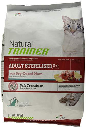 Natural Trainer Trainer Natural con prosciutto sterilised 3kg-Mangimi secchi per Gatti, Multicolore, Unica