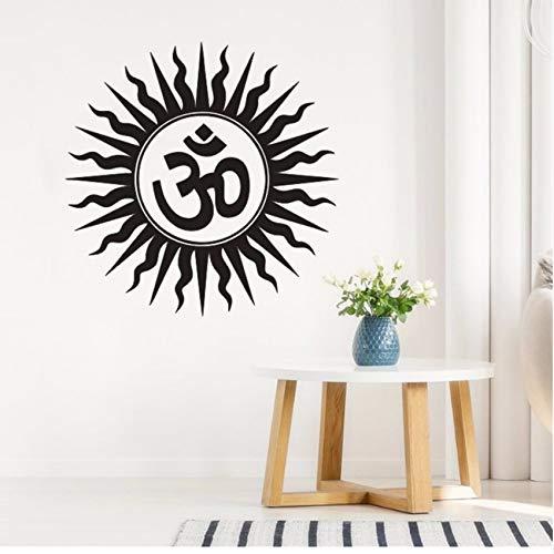 Gwgdjk Wand Stickerrs Om Hindu Religiöse Indien Sanskrit Symbol Wandtattoo Home Schlafzimmer Dekoration Abnehmbare Vinyl Yoga Wandbild