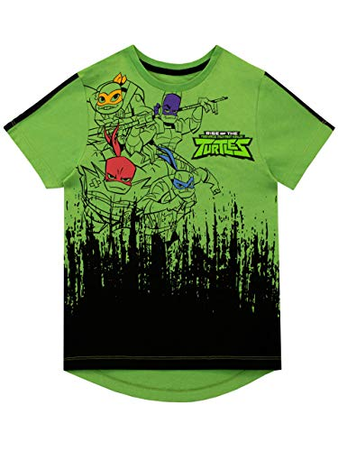 Teenage Mutant Ninja Turtles Jungen T-Shirt Grün 122 (Teenage Ninja Leonardo Turtle Mutant)