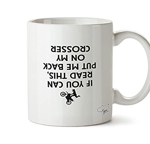 Hippowarehouse SI vous pouvez lire Ceci, Put Me Back on my CROSSER (Imprimé à l'envers) 283,5gram Mug Cup, Céramique, blanc, One Size