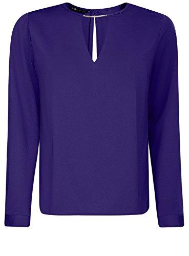 oodji-collection-damen-bluse-mit-tropfen-ausschnitt-und-metall-deko-blau-de-42-eu-44-xl