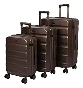 ROMEING Polycarbonate 30 cm Hard Trolley Bag (Pack of 3) (RHT195GO0052_Titanium Gold)