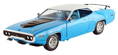 autoworld-1-18-scale-diecast-amm1012-06-1971-plymouth-roadrunner-blue-white