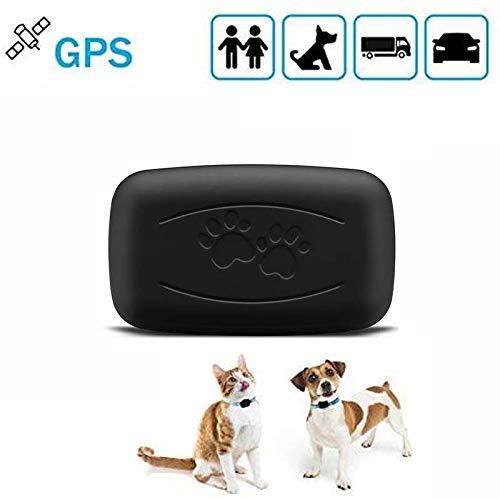 LMHOME Mini GPS localizador de rastreo de perro y gato para mascotas...