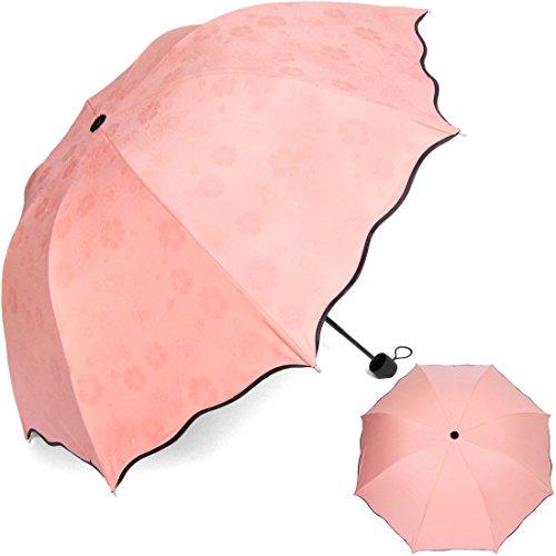 hiviolet parapluie pliable blossom avec l 39 eau cr atif solide et resistant au vent pour femmes et. Black Bedroom Furniture Sets. Home Design Ideas
