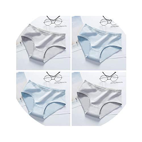 Seesaw-Min 2019 Sexy Seamless-Frauen-Schlüpfer Baumwolle Nahtlose Unterwäsche-Dreieck-Spitze-Schlüpfer-Mädchen, 4 Stück Combination4, L -