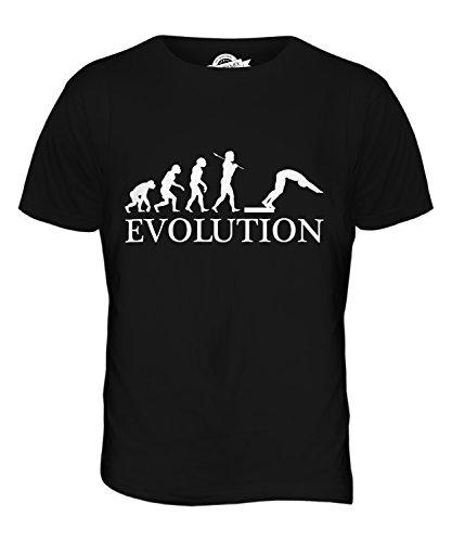 CandyMix Wasserspringen Kunstspringen Evolution Des Menschen Herren T Shirt Schwarz