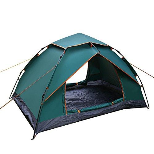 Mqhy rapido automatico pop up tenda 2 - 3 persone tenda outdoor travel beach camping tenda giovane dating tenda antivento e anti pioggia ombra tenda 210cm * 150cm * 120cm,verde scuro