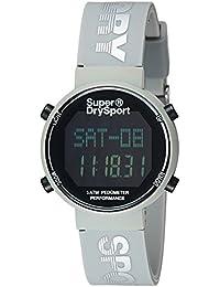 Superdry Digi Pedometer Digital Black Dial Women's Watch-SYL203E