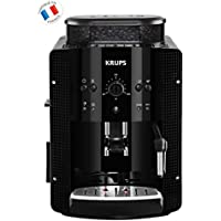 Krups YY8125FD Machine à Expresso Automatique avec Broyeur à Grains Essential Cafetière Café Grains Pression 15 Bars Noir