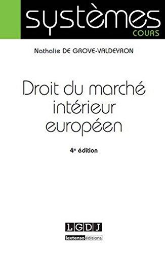 Droit du marché intérieur européen, 4ème Ed