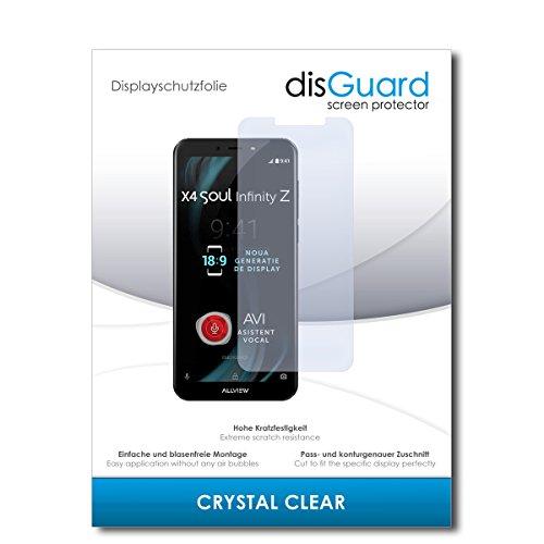 disGuard® Bildschirmschutzfolie [Crystal Clear] kompatibel mit Allview X4 Soul Infinity Z [4 Stück] Kristallklar, Transparent, Unsichtbar, Extrem Kratzfest, Anti-Fingerabdruck - Schutzfolie