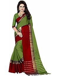 Kanchnar Women's Poly Silk Saree (Green ,529S908)
