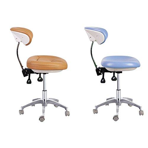 zgood PU Leder Medical Dental Zahnarzt 's Chair Doctor 's Hocker QY600–1D Mobile Stuhl (Mobile Lab-hocker)