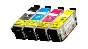 Cartouche d'encre compatible pour imprimante remplacer epson 1631 1632 1633 t t 1634 tonnes-t lot de 2 cartouches d'encre pour :  epson workforce wF - 2010 w wF - 2510 wF, wF-nF - 2520, 2530 wF wF wF - 2540 wF