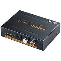 EAKAI HDMI Extractor de audio, 4K x 2K HDMI a óptico Toslink SPDIF Divisor de audio digital + analógico L / R Jack de 3,5 mm + Salida de video UHD HDMI [Soporte 4K HDMI 1.4]