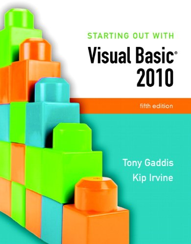 Starting Out with Visual Basic 2010 [With CDROM and Access Code]
