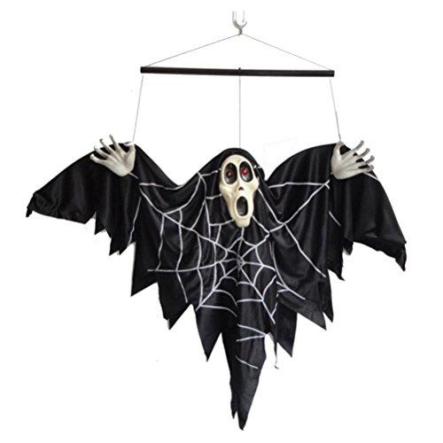 Halloween-Kleidung Requisiten Die Bar ist dekoriert Stimme Kontrolle elektrische Fledermaus Hängende Geister 56 * 25 * 13 cm (Elektrische Halloween Requisiten)