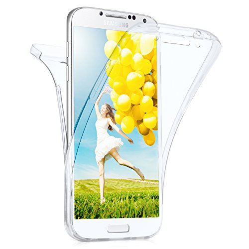 Samsung Galaxy S4 Hülle Silikon Transparent 360 Grad [OneFlow Double Side Cover] Dünne Schutzhülle Slim Handyhülle für Samsung Galaxy S4 / S IV Case Klar Silikonhülle TPU (Cover-handy Galaxy S4)