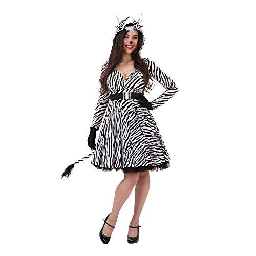 Zebra Kostüm Kapuzen Sexy - AINI Mini-Kleid, Halloween-Kostüm, für Erwachsene, sexy Zebra-Kleidung, Cosplay, Halloween, Party-Outfit für Erwachsene, sexy Kapuzen-Kleid + Gürtel