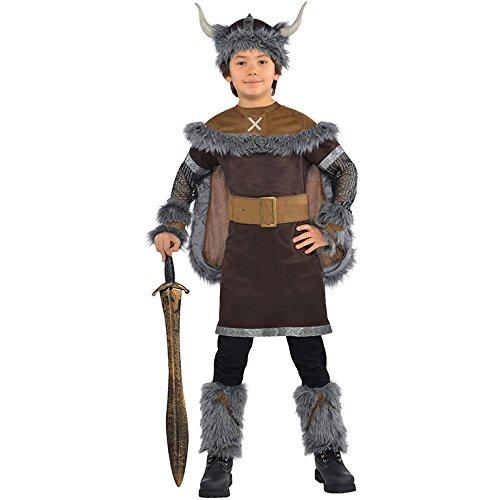 Jungen Wikinger Krieger Kostüm Historisch Mittelalterlich Sächsisch Kostüm - 12-14 Jahre (Sächsische Kostüm)