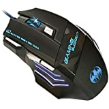 Gaming Mouse, Pictek 3200 DPI Optical USB Wired Gaming Mouse With Colorful LED 6 Button Gaming Sensor, Black